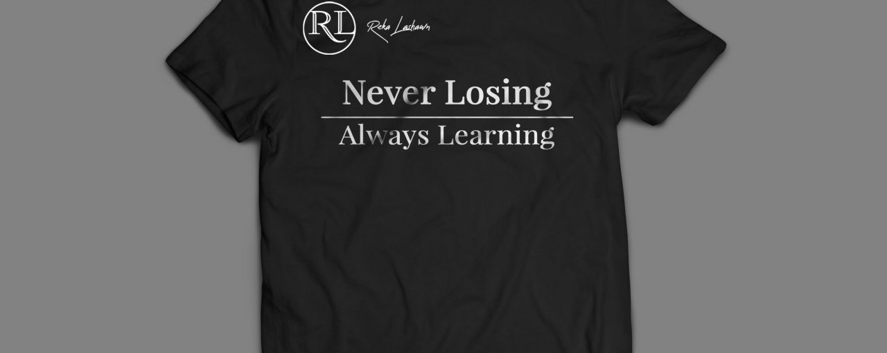 """Never Losing"" T-Shirt (Black)"